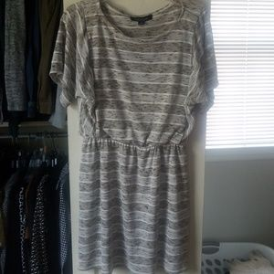 Brown, grey, white dress